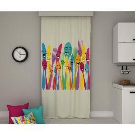 Závěs Happy Forks 140x250 cm