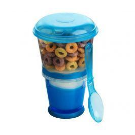 Dvoupatrová dóza na potraviny s lžičkou Cereal to Go