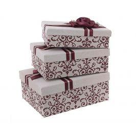 Sada 3 krabic s víkem Red Naeae
