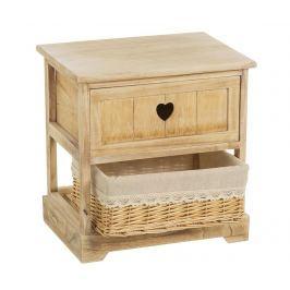 Skříňka s 1 košíkem a 1 zásuvkou Rustic Heart