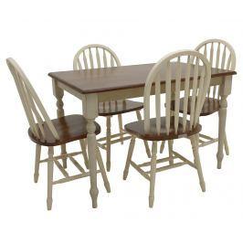 Sada stůl a 4 židle Fine Contrast