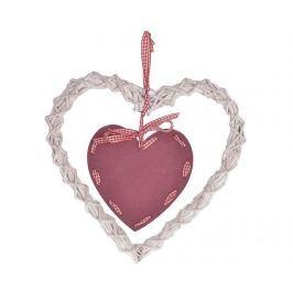 Závěsná dekorace Heart Red White