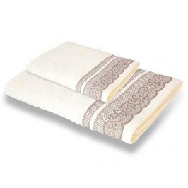 Sada 2 ručníků Lace Ivory