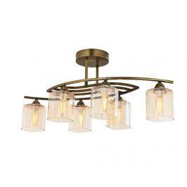 Závěsná lampa Sena Six Gold