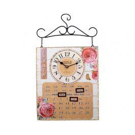 Kalendář s nástěnnými hodinami Jardin