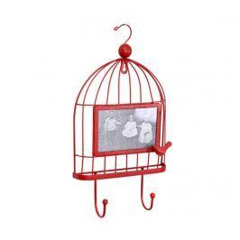Věšák s fotorámečkem Cage Red