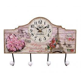 Nástěnný věšák s hodinami Paris