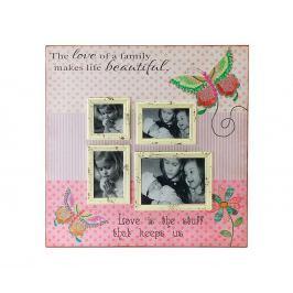 Rám na 4 fotografie Love of a Family