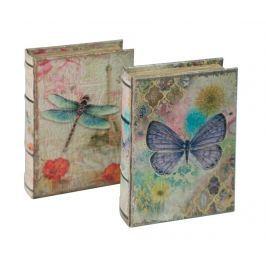 Sada 2 krabic ve tvaru knihy Butterfly and Dragonfly