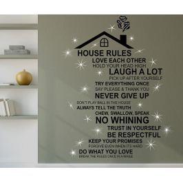 Samolepka Rooftop House Rules English