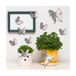 Sada 10 samolepek Color Butterflies