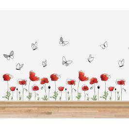 Samolepka Poppy Flowers