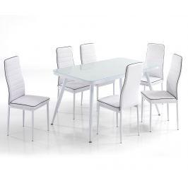 Sada stůl a 6 židlí Francis