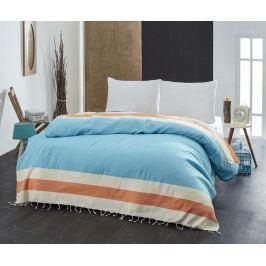 Přehoz Pique Brigitte Turquoise Orange 200x235 cm