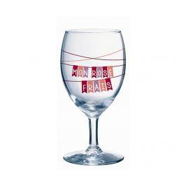 Sada 6 sklenic na stopce Mon Rose 240 ml
