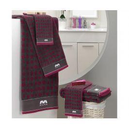 Sada 2 ručníků Khali Purple 30x50 cm