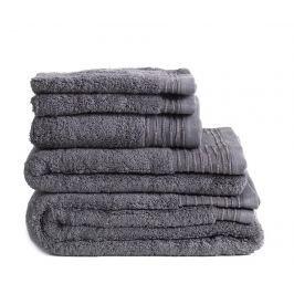 Sada 3 ručníků Lisa Dark Grey