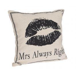 Dekorační polštář Always Right 45x45 cm