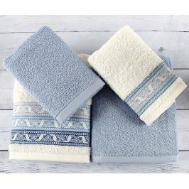 Sada 4 ručníků Tile Jacquard