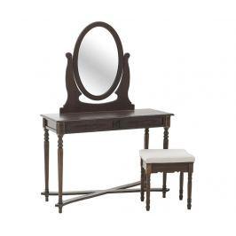Sada toaletní stolek a židlička Boudoir Brown