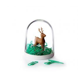 Sada 40 kancelářských sponek se stojanem Deer in the Forest