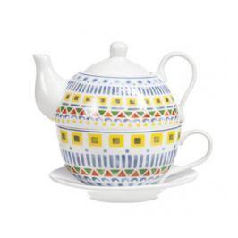 Sada čajník s šálkem a podšálkem Maya S