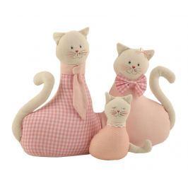 Dveřní zarážka Cat Family Pink