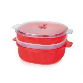 Dóza s 3 úrovněmi na vaření v páře Airtight Red Big 4 L