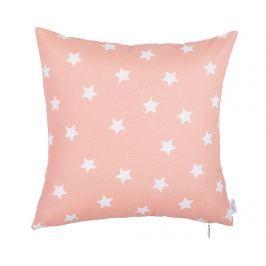 Povlak na polštář Pink with Stars 41x41 cm