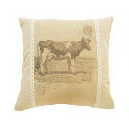 Dekorační polštář Country Cow 40x40 cm