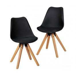 Sada 2 židlí Scandinavia Black