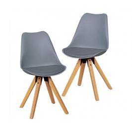 Sada 2 židlí Scandinavia Grey