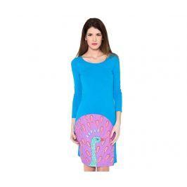Dámské šaty s dlouhým rukávem Peacock Blue M