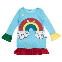Dětské šaty s dlouhým rukávem Rainbow Cloud 8 r.