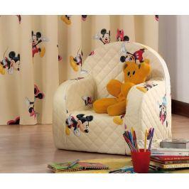 Dětské křeslo Mickey Mouse Cream