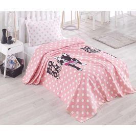 Přehoz Pique Boston Pink 160x235 cm