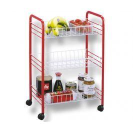 Úložný vozík s 3 košíky Winny Red