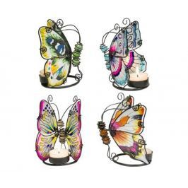 Sada 4 podstavců na svíčky Butterflies