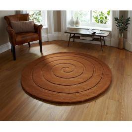 Koberec Spiral Brown 140 cm