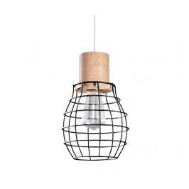 Závěsná lampa Biella Black Natural