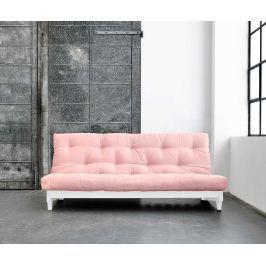 Rozkládací pohovka Fresh White and Pink
