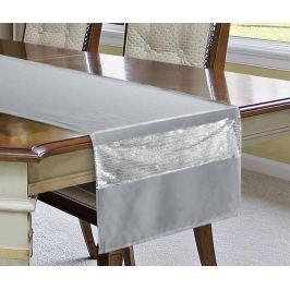 Středový ubrus Ariadna Grey 40x140 cm