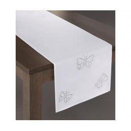 Středový ubrus Melania White 40x180 cm