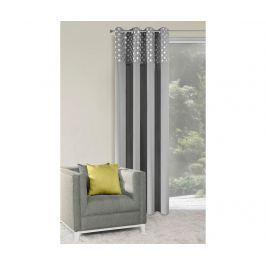 Závěs Dotty Steel Silver 140x250 cm