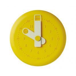 Nástěnné hodiny Present Yellow