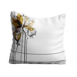 Dekorační polštář Flower Sketch 40x40 cm