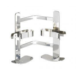 Rohový držák na doplňky do koupelny Duo-Clippsy