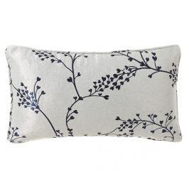 Dekorační polštář Branch White Blue 30x50 cm