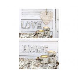 Sada 2 obrazů Love in White 60x80 cm