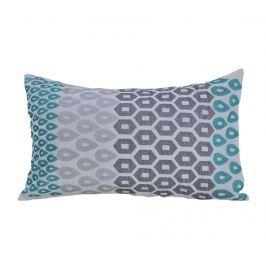 Dekorační polštář Payas Dark Grey and Turquoise 30x45 cm